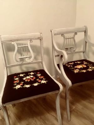 Set of antique needlepoint chairs for Sale in Austin, TX