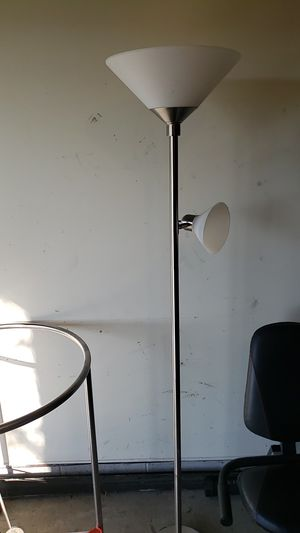 Silver tall floor lamp for Sale in Granite City, IL