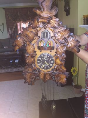 Musical wood clock for Sale in Bristow, VA