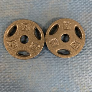 1 Pair 3lb Weight Plates - 6lbs Total for Sale in Inverness, IL
