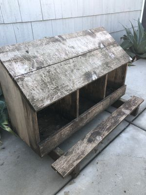 Laying boxes with perch for chickens for Sale in Oceanside, CA