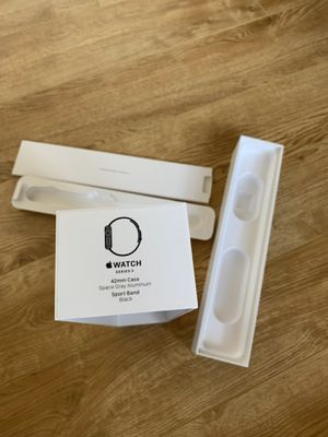 Apple Watch series 3 42mm BOX ONLY space grey aluminum NEW for Sale in Clovis, CA