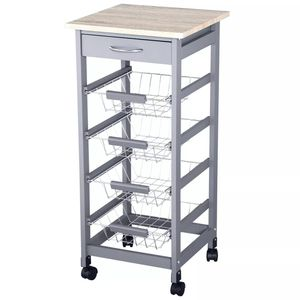 Rolling Kitchen Storage Cart on 360° Wheels for Sale in Los Angeles, CA