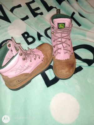 Jhon Deere girl boots size 4 youth's for Sale in Pasco, WA