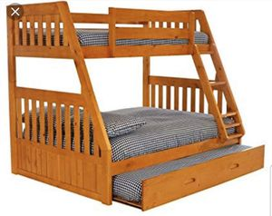 NEW BUNK BED FULL TWIN WITH TRUNDLE BED AND MATTRESS INCLUDED ALL NEW for Sale in West Palm Beach, FL
