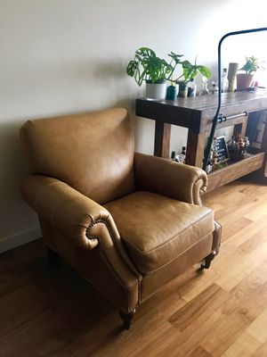 (2) Pottery Barn Leather Arm Chairs for Sale in Seattle, WA