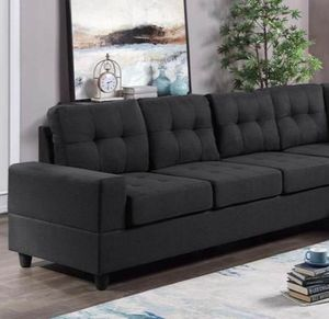 Reversible sectional black for Sale in Houston, TX