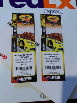 2 NASCAR TICKET (PENNZOIL 400) for Sale in Las Vegas, NV