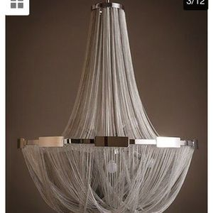 Stylish Creative Handmade Waterfall Chandelier Aluminum Chain Tassel Pendant Lam price firm $250 for Sale in Fremont, CA