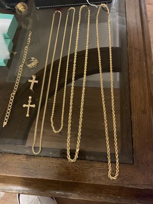 14kt chains rings and bracelet for Sale in Los Angeles, CA