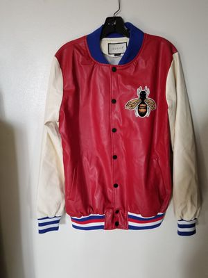 Men's GUCCI Genuine Leather Bomber Jacket. for Sale in Veradale, WA