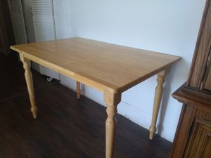 "Hard Maple Table with Decorative Legs. 48"" x 30"". A perfect fit for the right Kitchen. for Sale in Heath, OH"