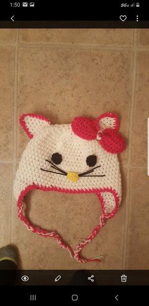 Hello kitty crochet hat for Sale in North Las Vegas, NV