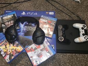 PS4 bundle system, games, controllers, mic for Sale in Hilliard, OH