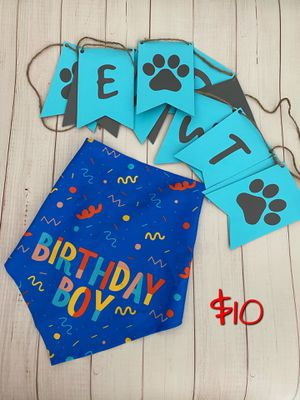 Dog birthday banner and scarf for Sale in Ashburn, VA