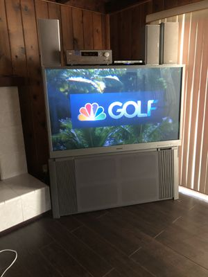 Mitsubishi 60 inch big screen tv with system for Sale in Whittier, CA