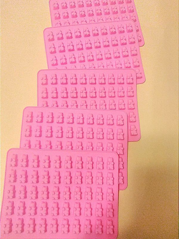 50 Cavity Silicone Gummy Bear Chocolate Molds.