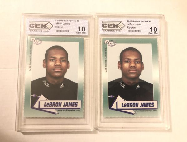 (2) 2002 LeBron James Rookie Review