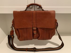 Banana Republic Brown Walnut Genuine Leather Messenger Bag Briefcase for Sale in Irvine, CA