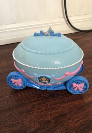 Children's kid toy Christmas present Cinderella Disney jewelry box for Sale in Belle Isle, FL