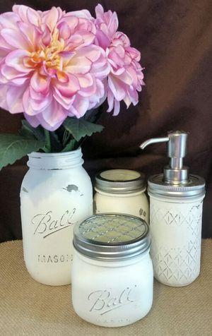 Bathroom mason jar organizers for Sale in San Antonio, TX
