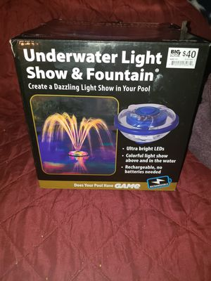 Underwater light show and fountain for Sale in Bakersfield, CA