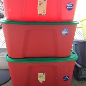 3 Homz Storage Totes 25.00 Each for Sale in Phoenix, AZ