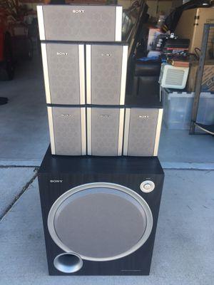 6 Sony Ss-msp88 Surround Sound Satellite 100 Watt Speakers + Subwoofer for Sale in Las Vegas, NV