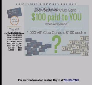 $200 V.I.P. Club Card Save on Hotels for Sale in Warner Robins, GA