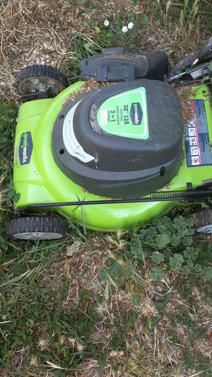 Green works Electric Lawnmower for Sale in Salt Lake City, UT