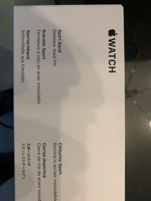 Brand new Apple Watch Sport Band - White for 42/44mm watch for Sale in Chicago, IL