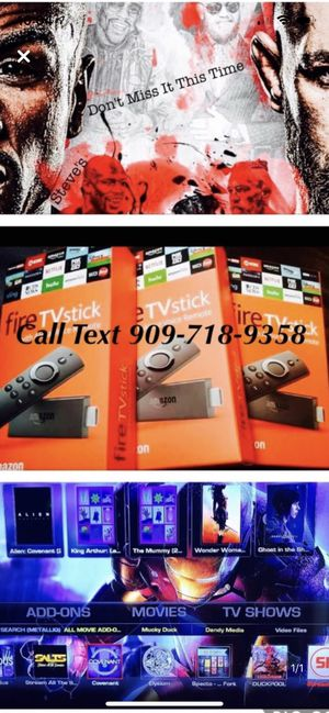 Fire tv stick with programmed for Sale in Riverside, CA