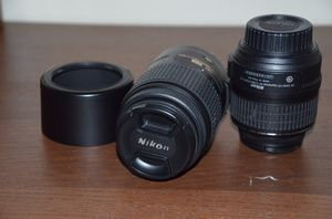 Nikon Lenses(18-55 and 55-300) in mint condition! for Sale in Dallas, TX
