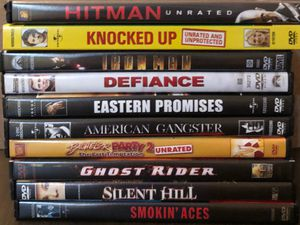DVD movie bundle unrated rated R action drama thriller comedy for Sale in Burbank, CA