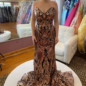 Rose Gold/Black New Sleeveless Prom Dress for Sale in Burlington, NJ
