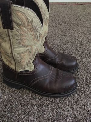Men's Justin Work Boots 9D for Sale in Fresno, CA