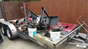 16 x 7 car hauler flat bed trailer for Sale in Wheat Ridge, CO