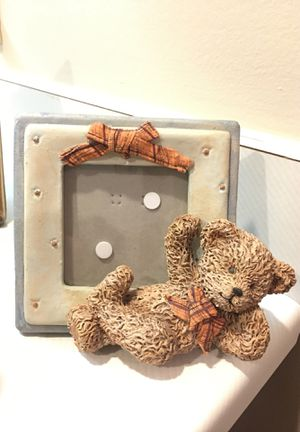 Picture frame with lounging teddy bear for Sale in Lincoln, NE