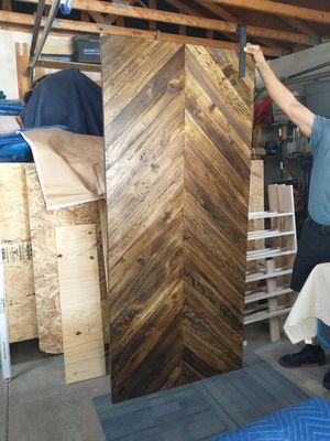 Dark Walnut Barn Slider Door w/ Hardware for Sale in Lakewood, CO