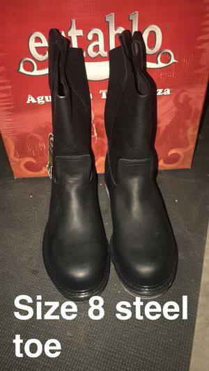 Work boots size 8 steel toe for Sale in Tooele, UT