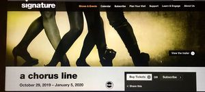 1 x A Chorus Line Ticket - Nov 21 2019 - Dress Circle Left Row DCB for Sale in Rockville, MD