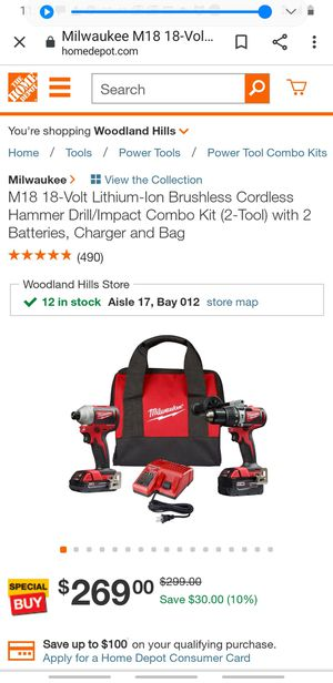 MILWAUKEE M18 2893-22CX, AND 3 Milwaukee PaCKout STORAGE or as many as U WANT for Sale in Los Angeles, CA