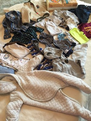 Newborn-3/6 mo clothing lot with organic diapers for Sale in Chesapeake, VA