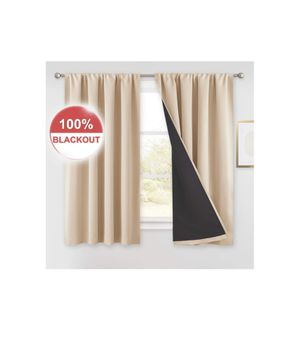 100%Blackout curtains(52*54inch)2pieces for Sale in Plano, TX