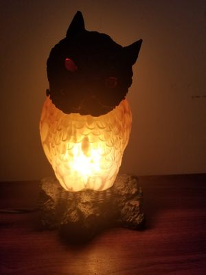 Amber Glass Owl Lamp Night Stand/Desk Top. for Sale in Joliet, IL