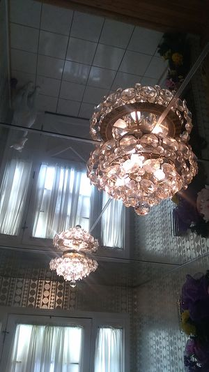 Ceiling chandelier two, all crystals for Sale in Aspen Hill, MD