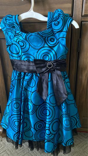 Jona Michelle sz 5 Easter Party Flower girl Dress blue black sparkles for Sale in Broadview Heights, OH