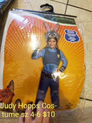 New girls judy hopps zootopia costume for Sale in Miami, FL