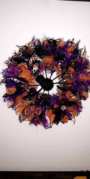 Handmade Halloween wreath for Sale in Phelps, WI