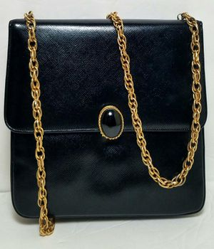 Saks Fifth Avenue black patent leather evening purse for Sale in West Hollywood, CA